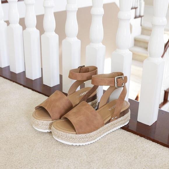 f815dfefc53 topic tan ankle strap flatform sandal espadrilles NWT